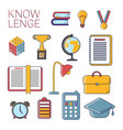 set of school and university educational vector image