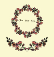 Set of watercolor wreath and bordersvintage style vector image vector image