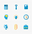 six colorful flat education icons set on white vector image vector image