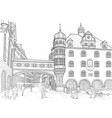 sketch of munich vector image vector image