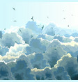 square of flock blue sky and clouds vector image vector image