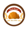 Sticker emblem fresh bread bakery