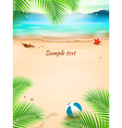 Summer beach background seascape sand wave vector image