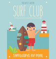 surf club vector image vector image