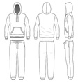 Sweat suit vector image