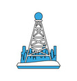 telecommunications antenna symbol vector image vector image