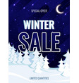 text winter sale against background the vector image