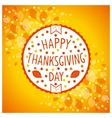 Thanksgiving day sign vector image