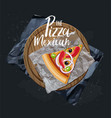 the pizza mexican slice without background vector image vector image