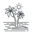 tropical island summer landscape ocean or vector image vector image