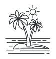 tropical island summer landscape ocean or vector image