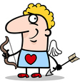 valentine man in cupid costume cartoon vector image vector image