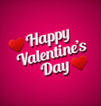 Valentines day greetings card White text over pink vector image