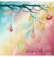 Vintage background with tree branch leafs and vector image vector image
