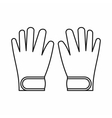 Winter gloves icon outline style vector image vector image
