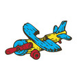 wooden toys aircraft vector image
