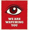 Looking eye poster vector image