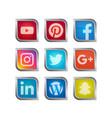 social media icon set vector image