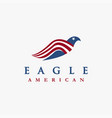 abstract american eagle logo icon template vector image vector image