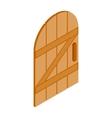 Arched wooden door icon isometric 3d style vector image vector image