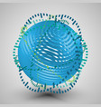 blue 3d sphere with rings vector image vector image