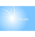 Blue shiny light abstract background vector image vector image