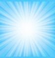 blue sunburst banner with beam vector image vector image