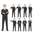 business man set vector image