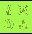 business outline icons set linear icon vector image
