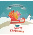 Christmas gifts in a vintage sleigh vector image