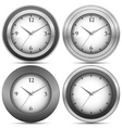 chrome office clocks vector image vector image