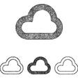 Cloud icon set - sketch line art vector image vector image