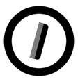 comb icon black color in circle vector image vector image