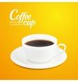 cup espresso vector image vector image