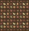 cute halloween pattern background with brown color vector image vector image