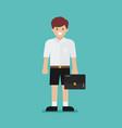 cute student boy vector image
