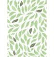 decorative green leaves seamless background vector image