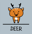deer hand-drawn style vector image