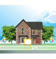 detached residential house celebration vector image vector image