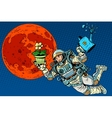Ecology and science Mars astronaut plants vector image vector image