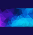flat blue geometric triangle wallpaper vector image vector image