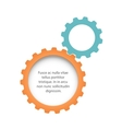 Flat gears background vector image vector image