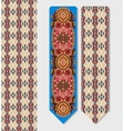 floral decorative ethnic paisley bookmark vector image