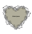 Floral heart wreath sketch for your design vector image vector image