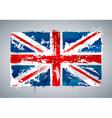 Grunge UK national flag vector image vector image