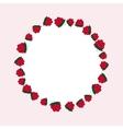 hand drawn raspberries label vector image