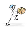 happy delivery man vector image