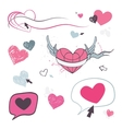 Hearts set Design element vector image
