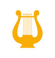 icon lyre a stringed musical instrument art vector image vector image
