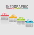 Info Graphic Layer Color Abstract Shelves vector image